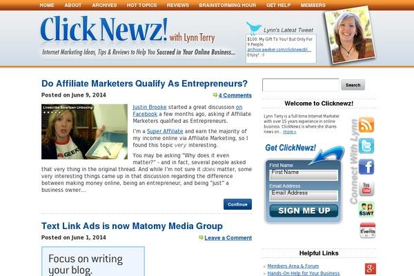 ClickNewz Affiliate Marketing with Lynn Terry Blog