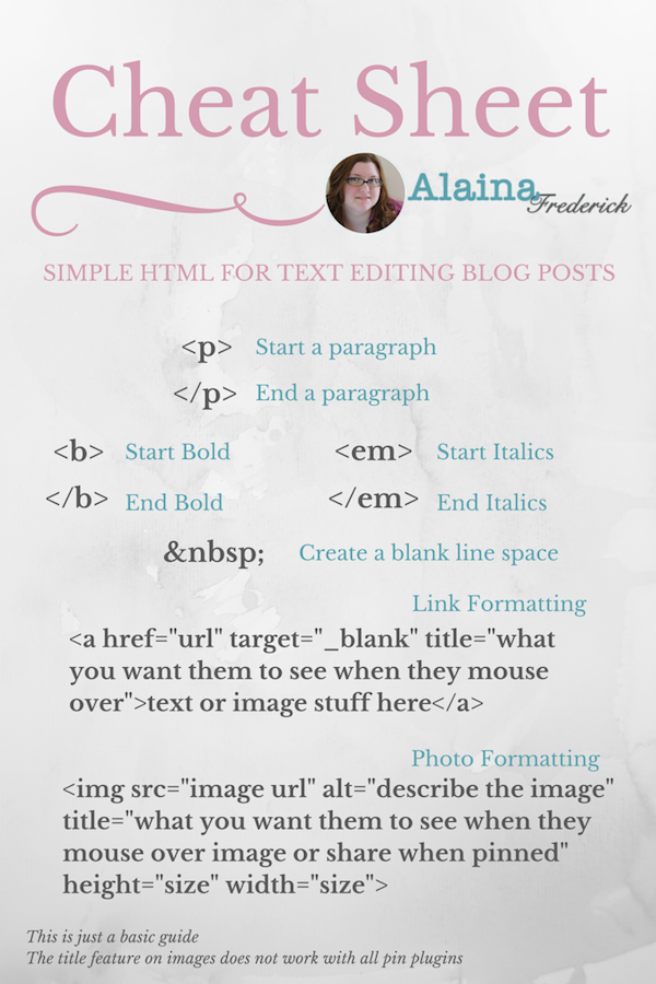 Cheat Sheet for Adding Elements to Your #Wordpress Blog Post @AlainaFrederick