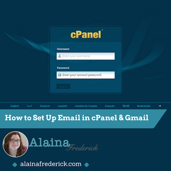 How to set up #email in cpanel and gmail @AlainaFrederick #tutorial #video